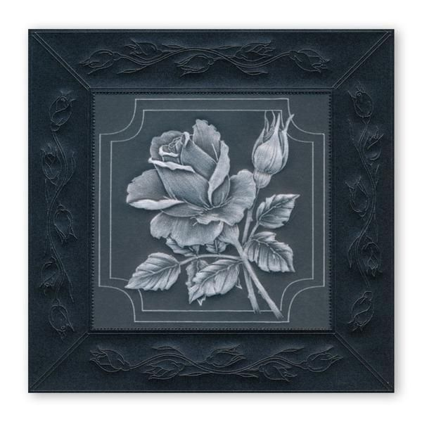 Clarity Stamps Groovi Parchment Embossing A5 Plate Jayne Nestorenko Flowers