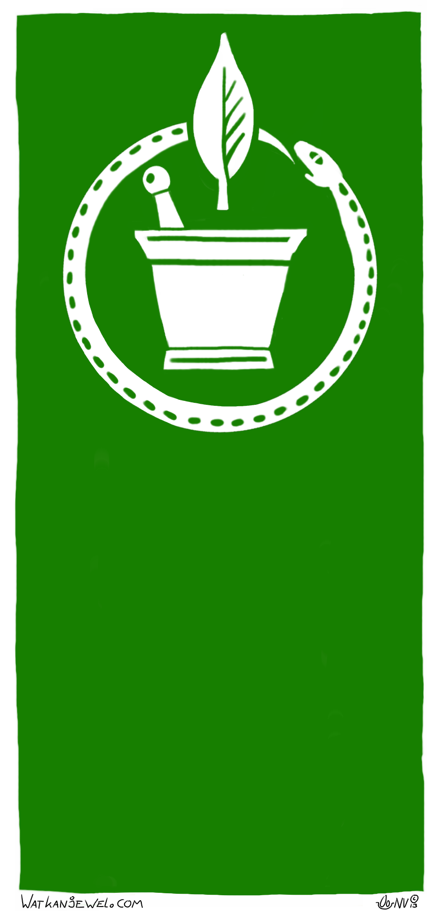 Guild sign: Medecin (healers Guild), commission from GamesnStuff.com, Niels Vergouwen Watkanjewel.com