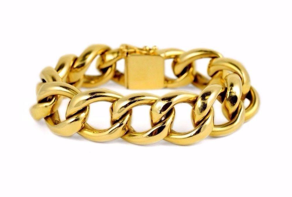 d1d25b346 Zelman Friedman 14k Gold Curb Link Bracelet #Tiffany #Chain #fine #jewelry  #designer #chunky