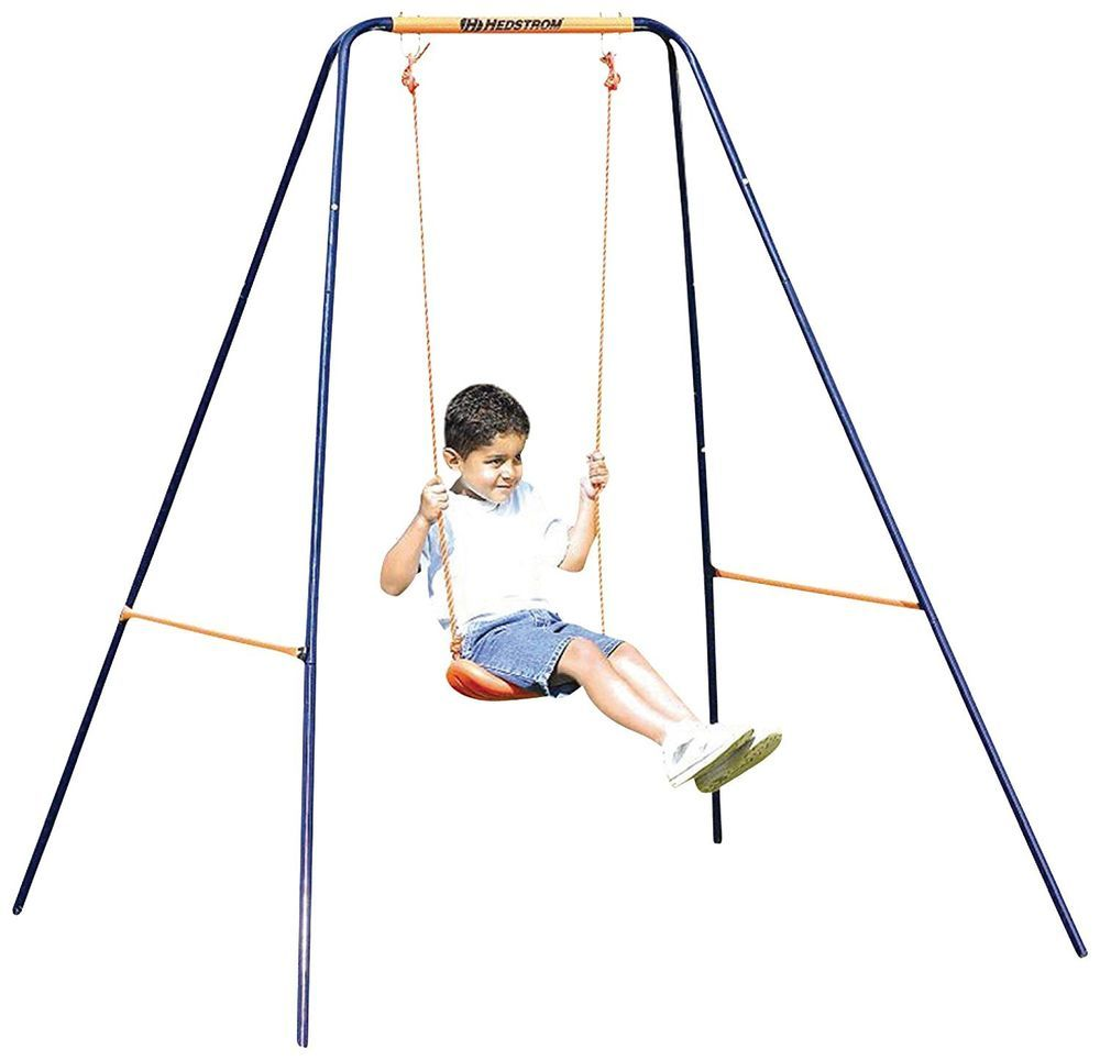 Kids Swing 2 In 1 5 Point Harness Playground Backyard Slide Metal Swingset  Child