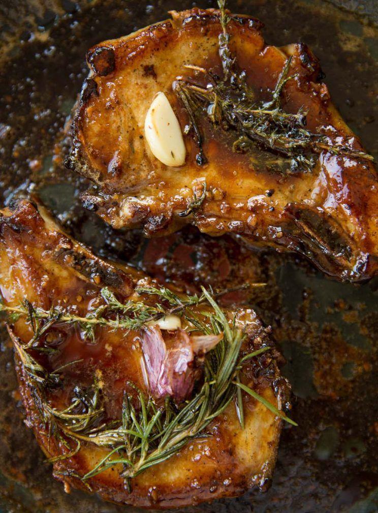 Honey Garlic Pork Chops | Don't Go Bacon My Heart