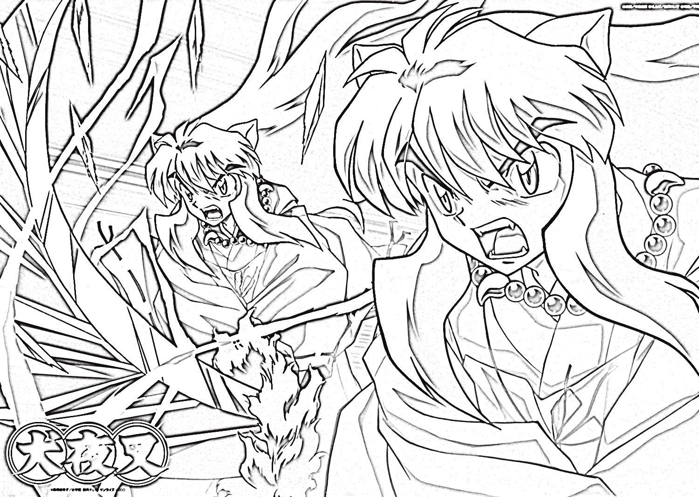 inuyasha coloring pages 3  ideias para desenho desenhos