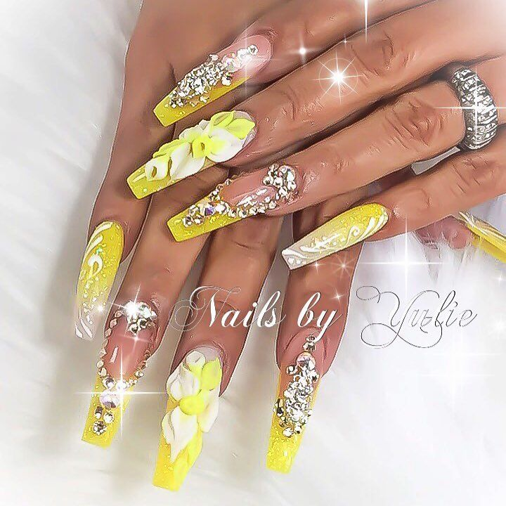 Try 50 Stunning Yellow Nail Designs And Get Ready For Beach Party ...