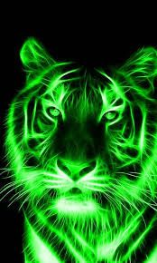 Green Tiger Tiger Painting Tiger Wallpaper Animals