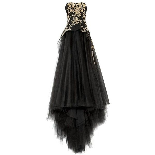 Tulle Ball Gown With Structured Bodice via Polyvore featuring dresses, gowns, tulle gown, tulle ball gown, tulle evening dress, tulle dress and structured dress