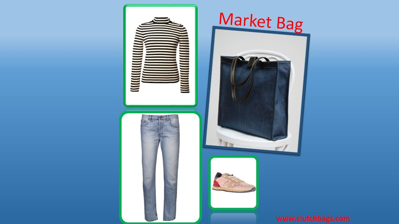 Levi Strauss may have invented the 1st pair of jeans, but Clutch invented the one and only Market Bag.