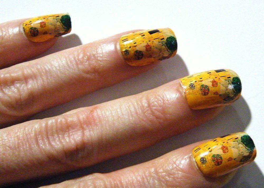 Mani Pedi Klimt The Kiss Nail Polish Art Nails Art History Painting ...