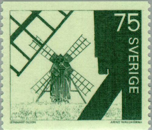 1971: Windmills (שוודיה) (Windmills) Mi:SE 711yA,Sn:SE 748,Yt:SE 692,AFA:SE 718