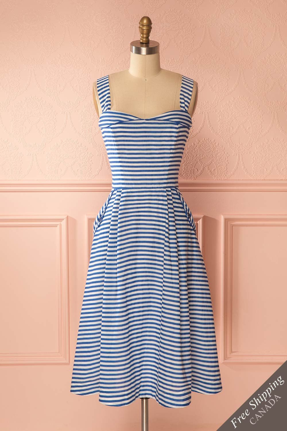 Liliane Boutique1861 How Cute Is This Retro Summer Dress With The Sweetheart N Striped Casual Dresses Sweetheart Neckline Dresses Casual Retro Summer Dress [ 1500 x 1000 Pixel ]