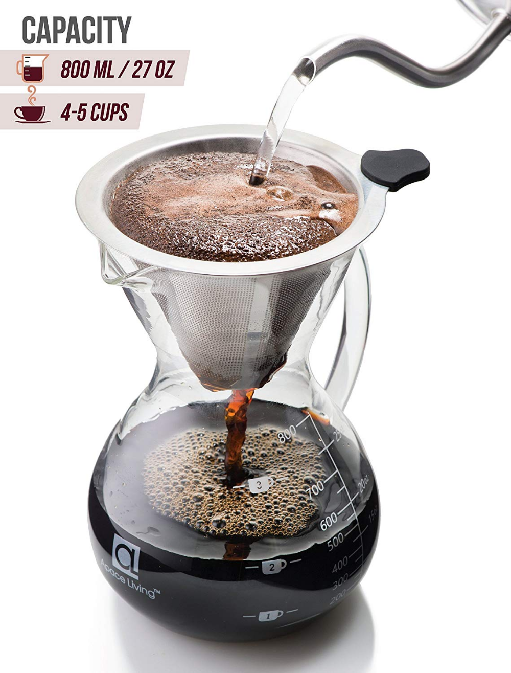 Apace Living SultryBrew Pour Over Kaffeebereiter inkl