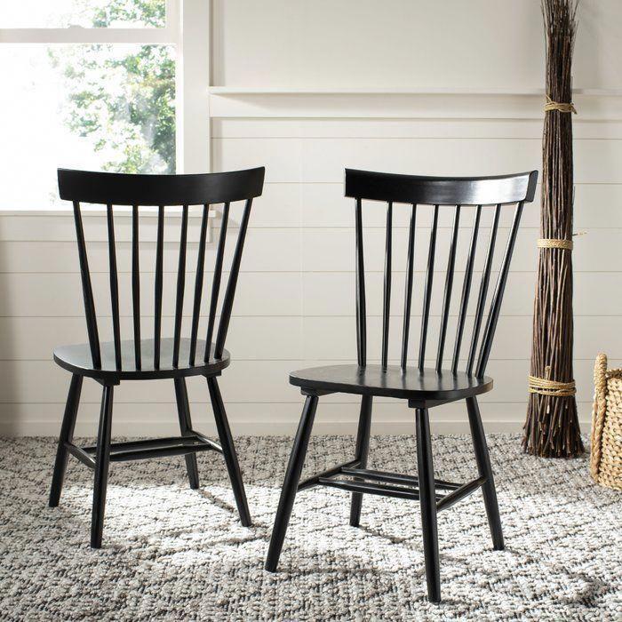 Three Posts Valdosta Solid Wood Dining Chair Reviews Wayfair