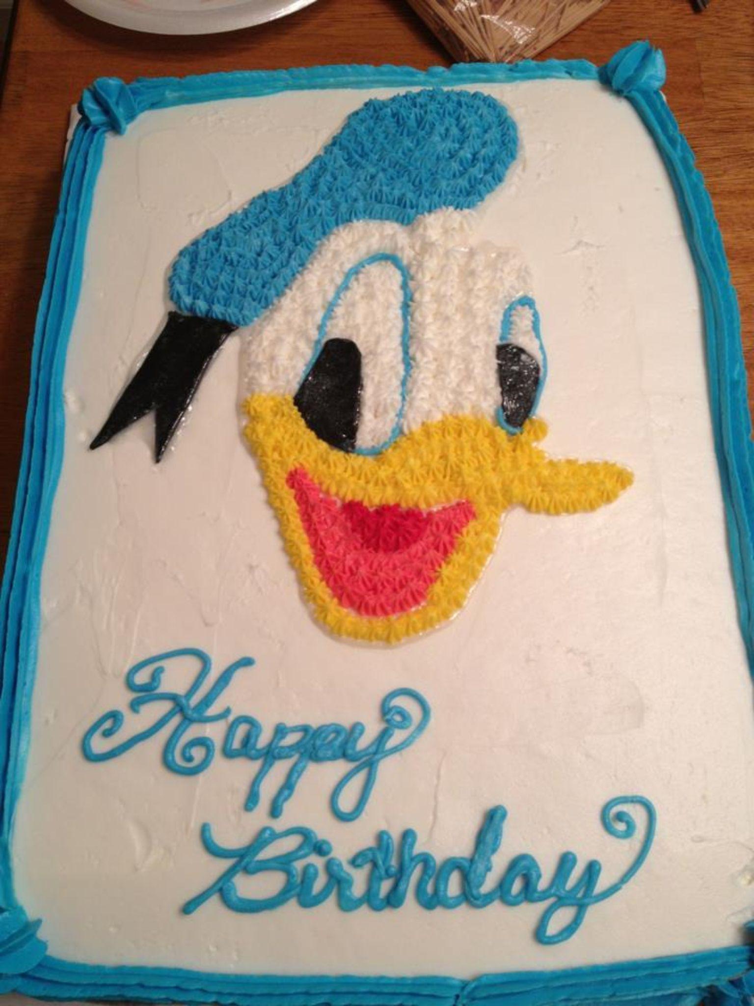 Awe Inspiring Donald Duck Cake Cartoon Cake Donald Duck Cake Duck Cake Personalised Birthday Cards Veneteletsinfo