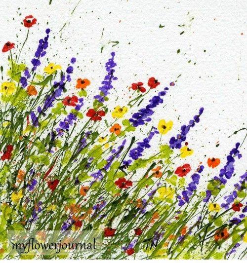 Splatter Painting At A Different Angle Flower Art Splatter Art