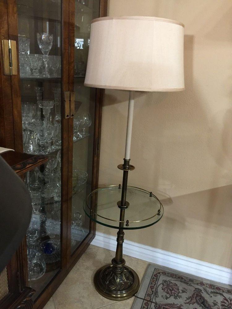 Vintage Mid Century Modern Stiffel Brass Tone Floor Lamp With