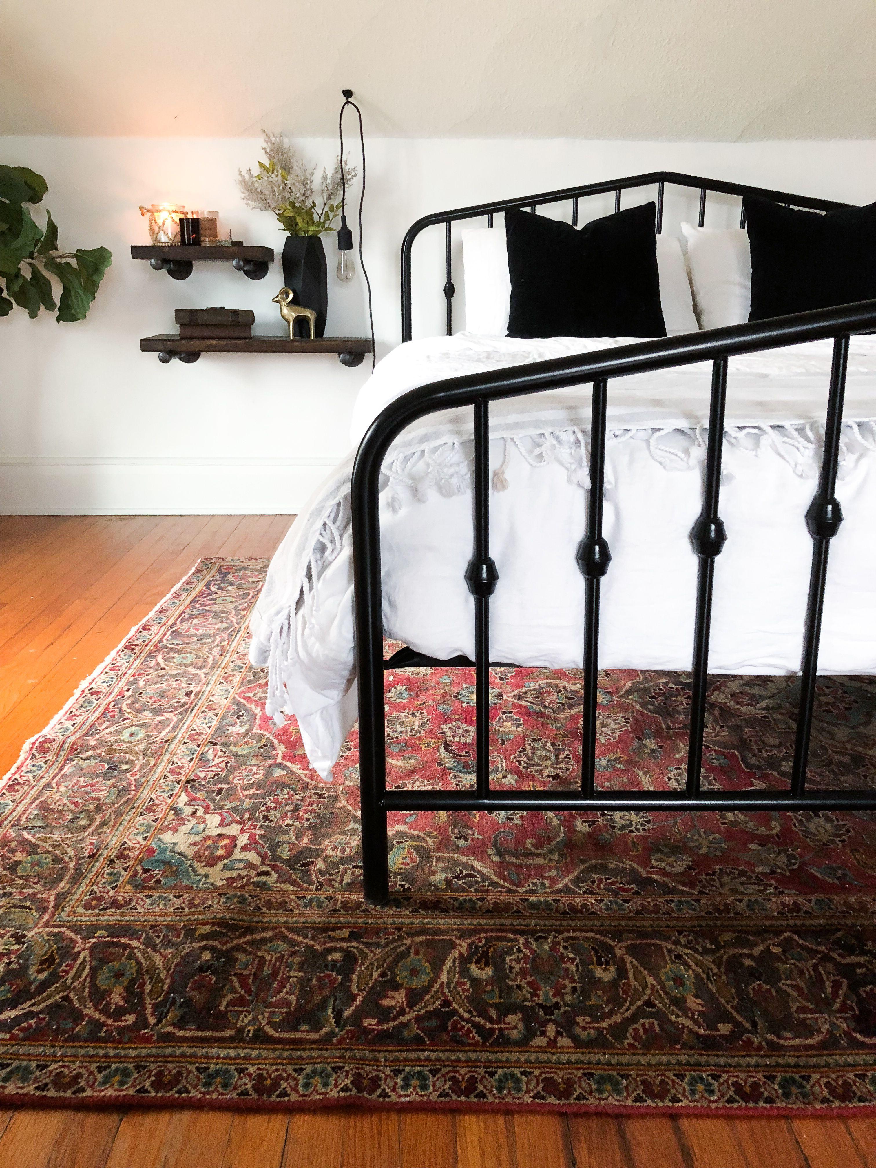 Modern Vintage Black Metal Bed Frame Black Bed Frame Vintage