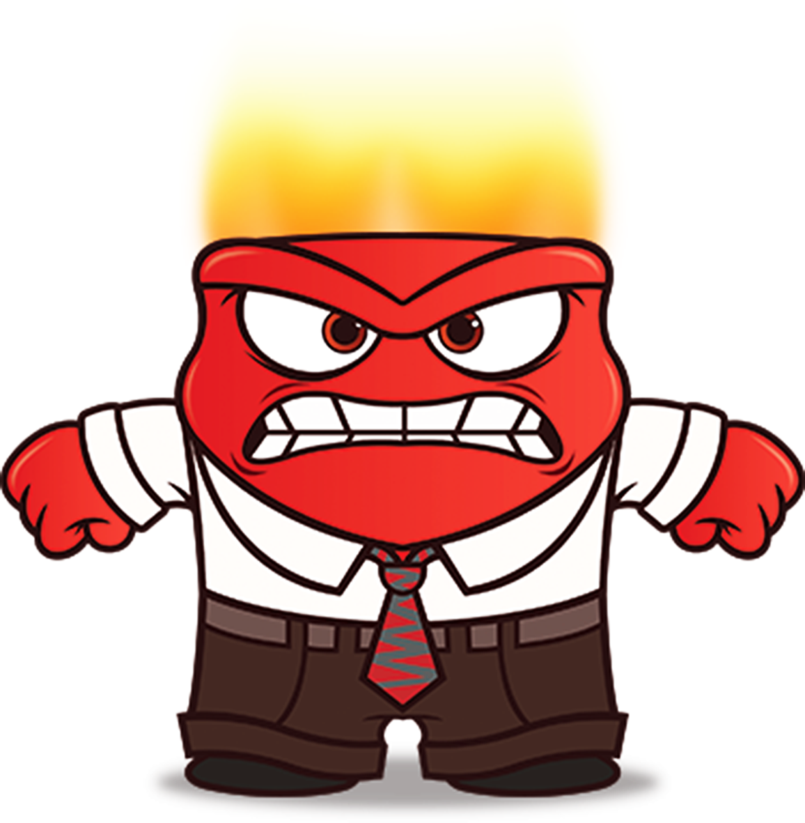 Inside Out Anger Clip Art Height 8 Cm Decal