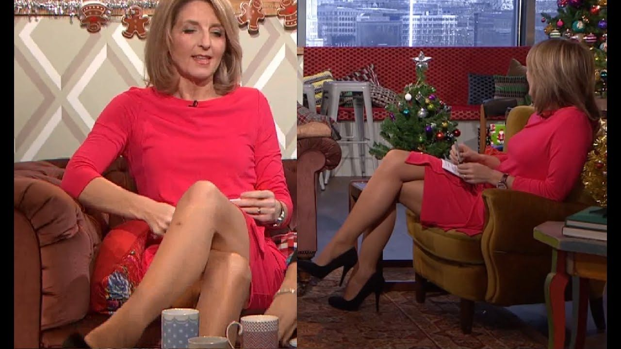 Kaye adams leg cross in pink mini dress mature beauties