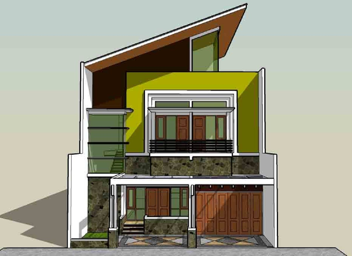 Gambar Aneka Atap Rumah Minimalis Miring Architecture Interior