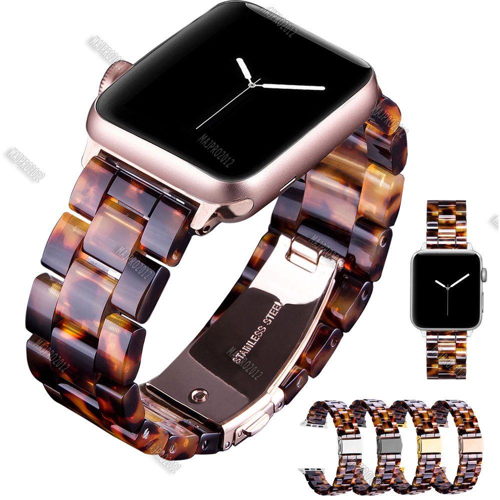 Tortoise Shell Lines Resin Wristwatch Bands Strap Bracelet For Apple Watch 38 42 Ebay Apple Watch Fashion Apple Watch Bands Fashion Watch Bands