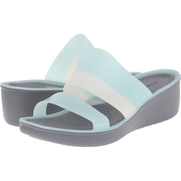 90de32d2df8a Crocs Color Block Wedge (Sea Foam) Women s Wedge Shoes ( 35) ❤ liked