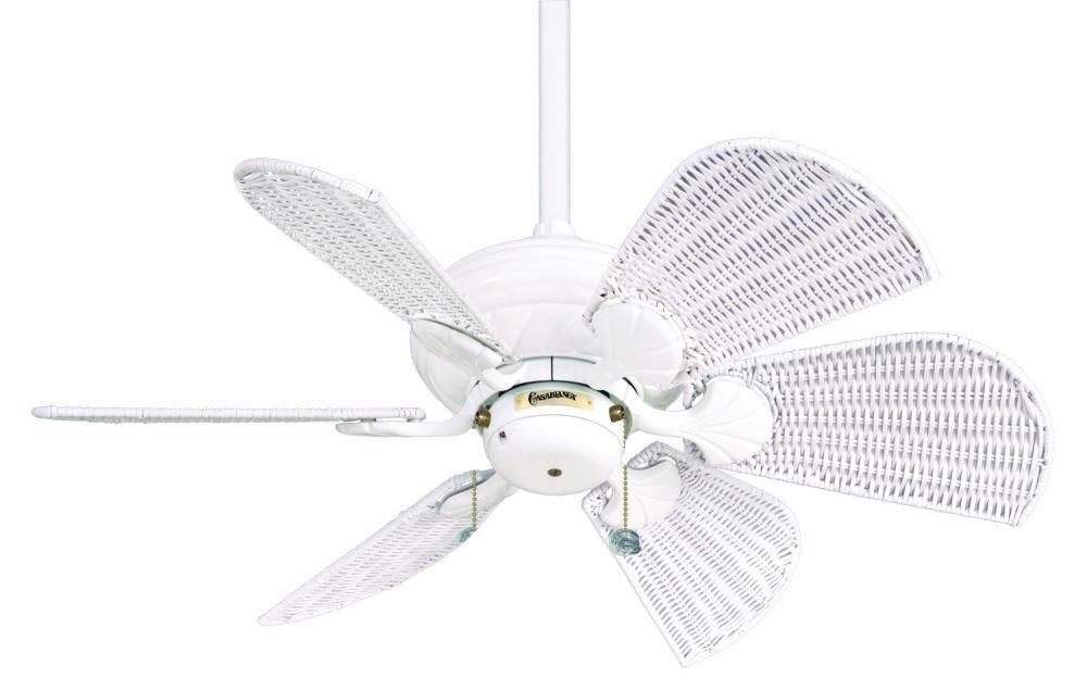 White Wicker Fan For The Cottage White Ceiling Fan White Wicker Wicker