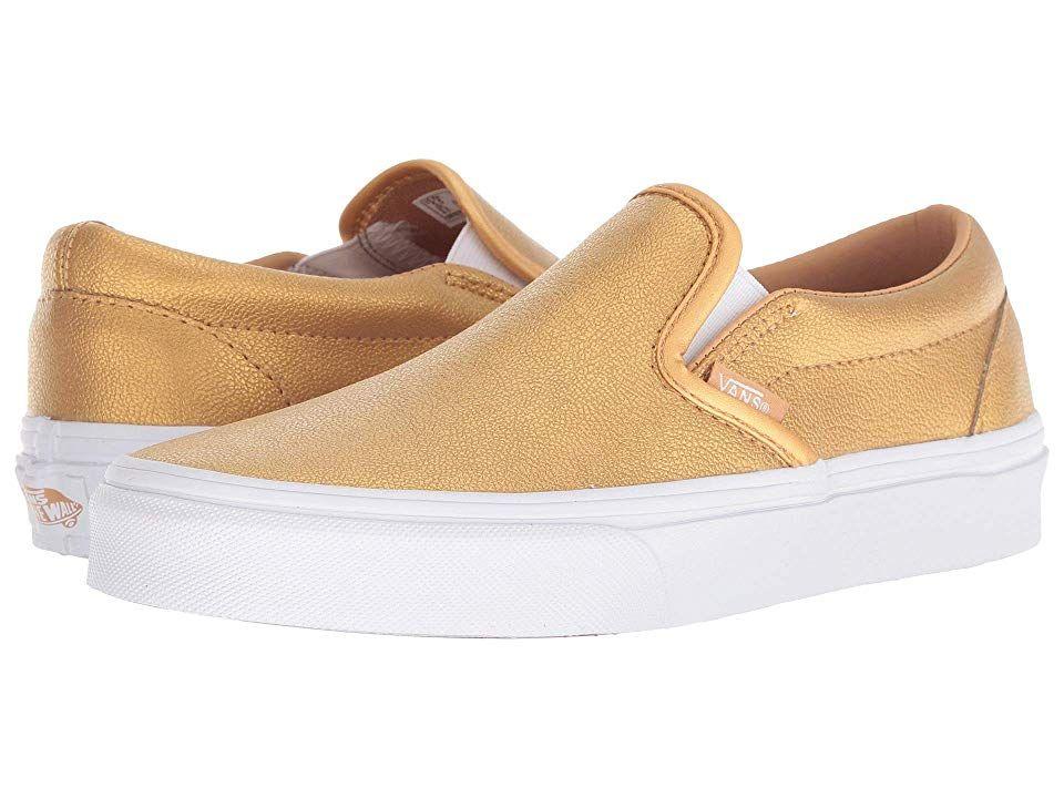 Vans Classic Slip Ontm Skate Shoes (Metallic) BronzeTrue
