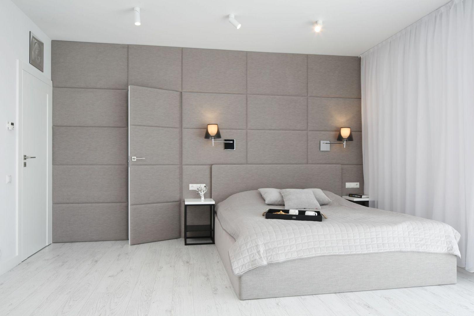 Aranżacja Sypialni Wykończenie ściany Za łóżkiem Projekt