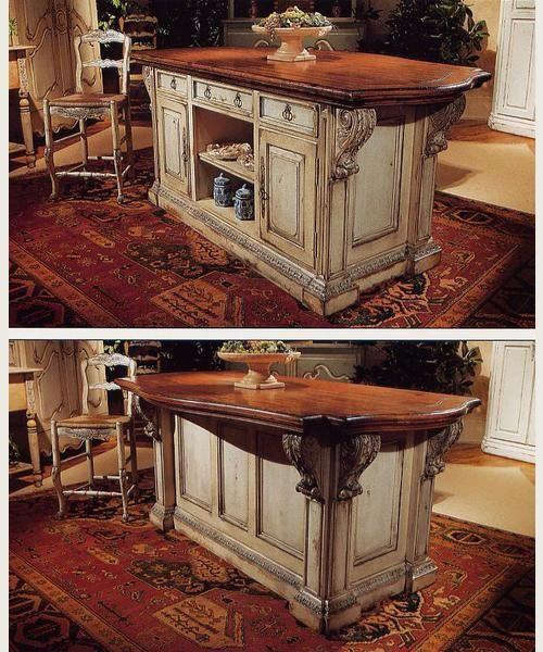 """Habersham Cabinets Kitchen: """"CHANTEPIE"""" KITCHEN ISLAND WIT"""