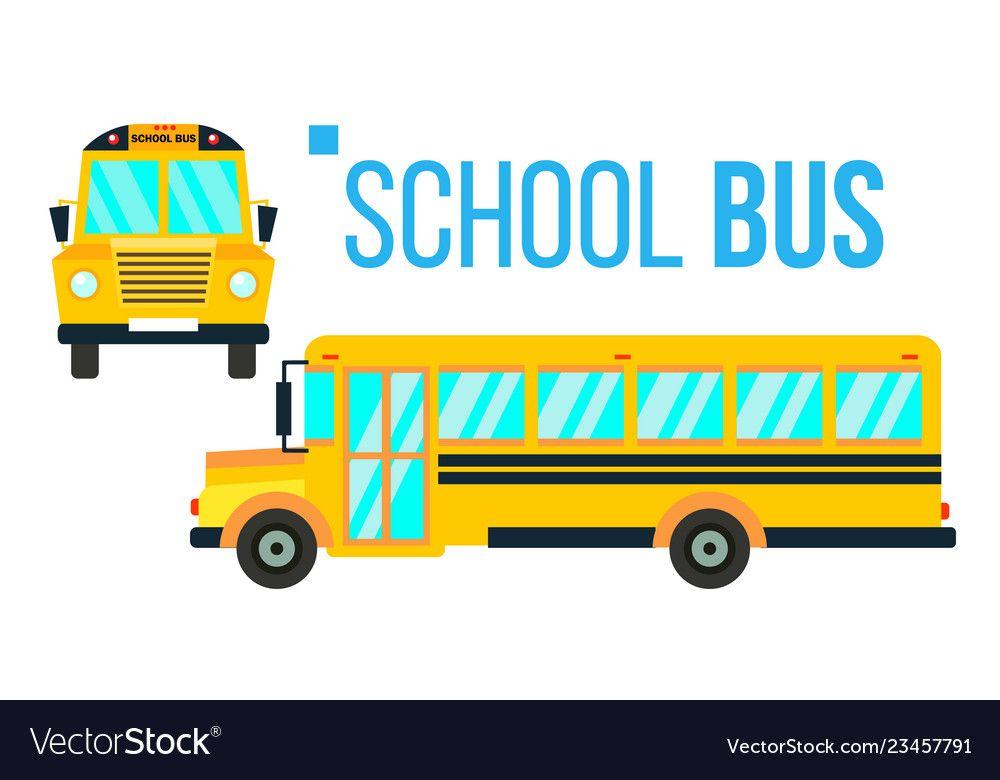 School Bus Yellow Classic School Vehicle Vector Image On