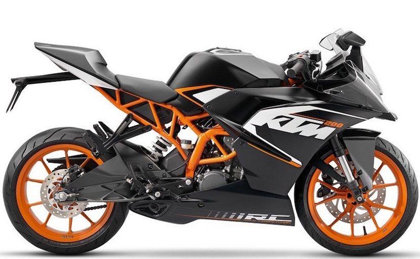 Best Bikes In India Under 2 Lakhs 2017 Ktm Ktm Rc 200 Ktm Motorcycles