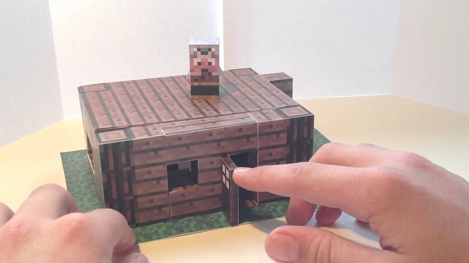 minecraft papercraft mini house with furniture minecraft