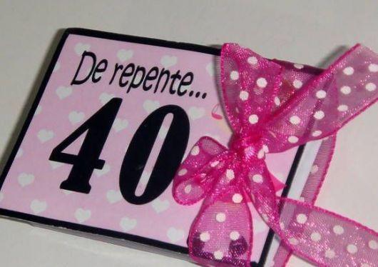 Quero Montar Meu Convite De 50 Anos: Ideia Para Convite Festa De 40 Anos Feminina