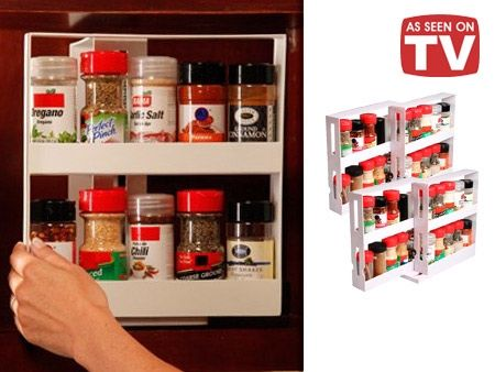 As Seen On Tv Spice Rack Enchanting AsSeenOnTV Swivel Store Deluxe Spice Racks Gadgets Pinterest