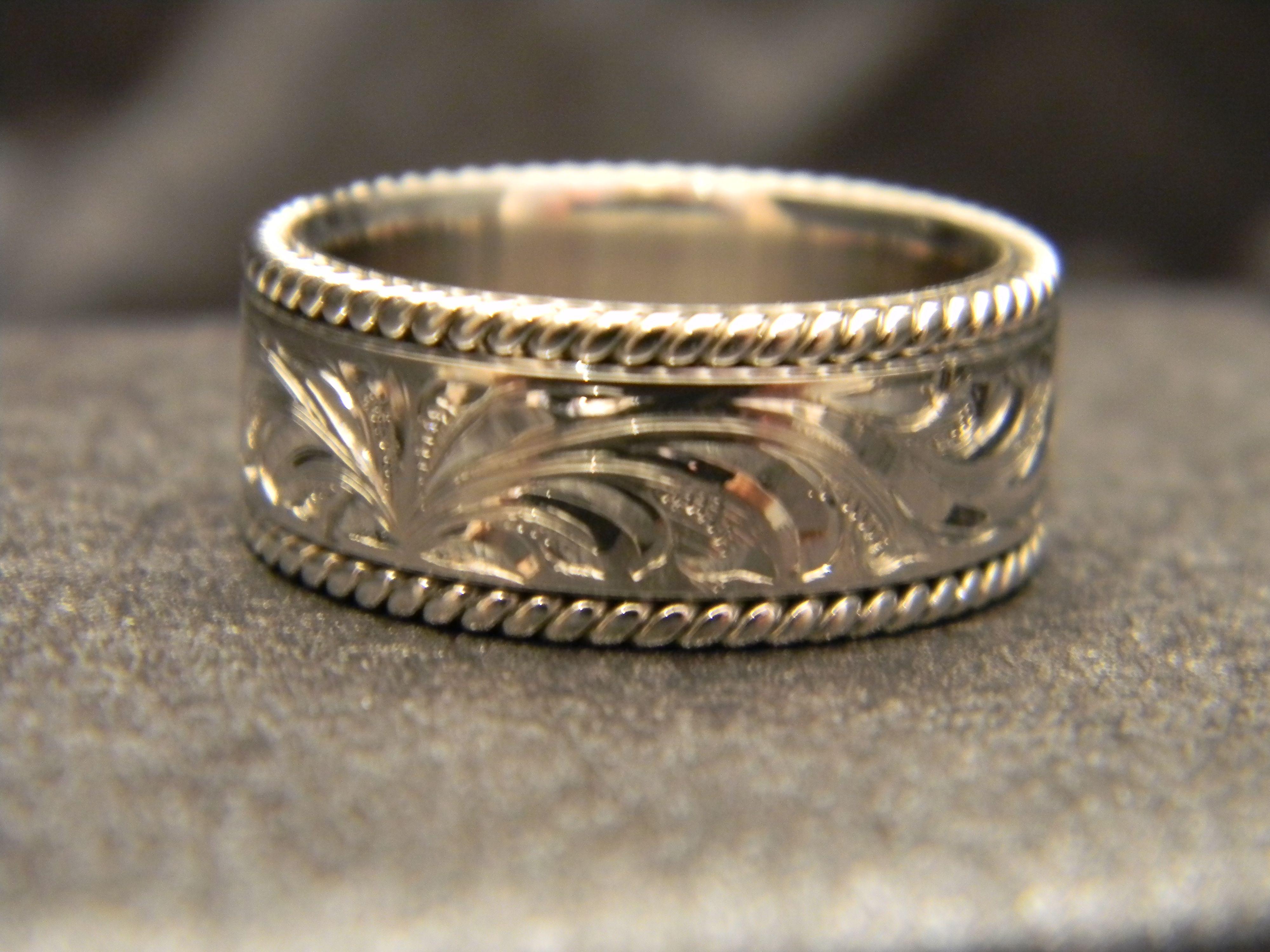 Pin on Custom Engraved Gold Rings