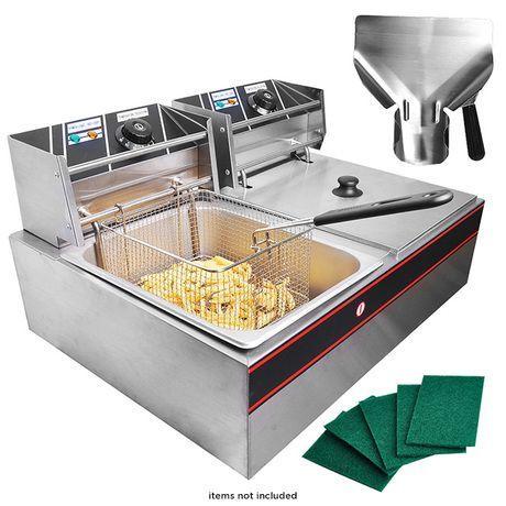 5000w Electric Countertop Dual Tank Deep Fryer Electric Deep Fryer Commercial Deep Fryer Electric Fryer