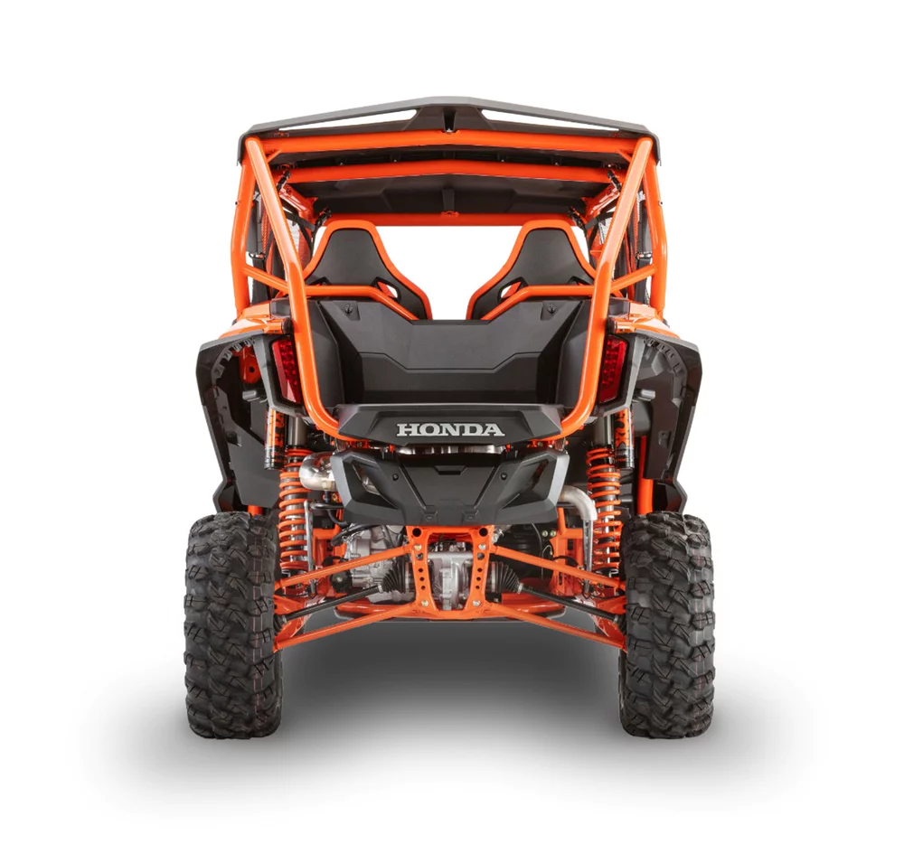 Honda Debuts Two New Four Seater Side By Side Utvs One With Semi Active Suspension In 2020 Honda New Honda Active Suspension