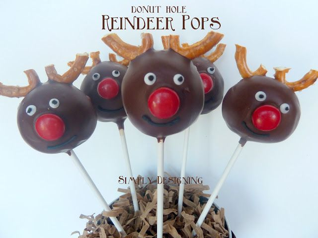 Simply Designing with Ashley: Donut Hole Reindeer Pops