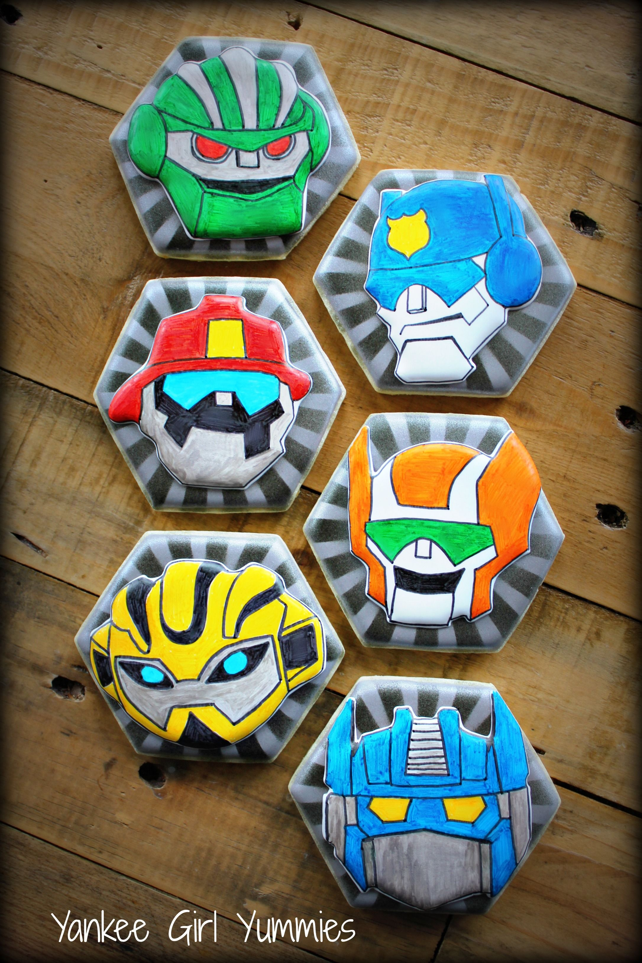 Rescue Bots Transformer Cookies Yankee Girl Yummies