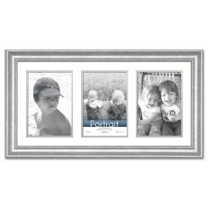 Timeless Frames Lauren 3 Opening 20 In X 10 In Silver Matted Picture Frame 45283 The Home Depot Picture Frame Colors Collage Frames Picture Frames