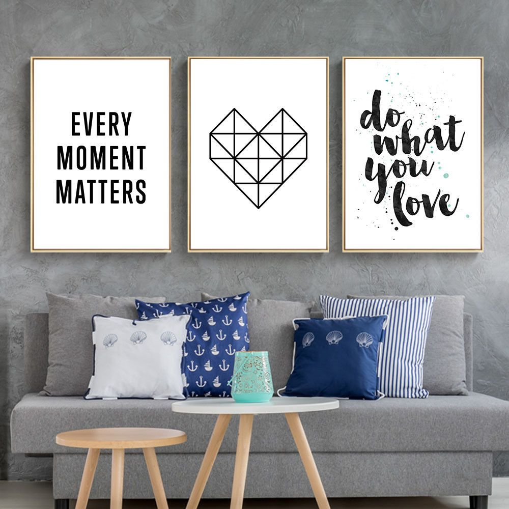 Inspirational Quote Wall Art Canvas Posters Abstract Prints Modern