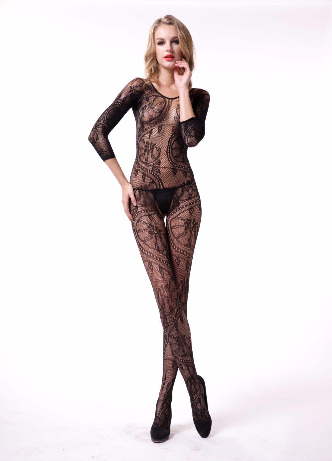 52d03b0832f7 Women Silk Stockings Jacquard Sexy Lingerie Open Crotch Pants One Size  ITC568 | eBay