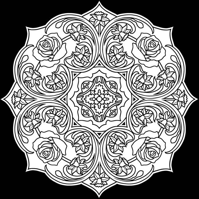 Creative Haven Flower Mandalas Coloring Book: Stunning Designs on a ...