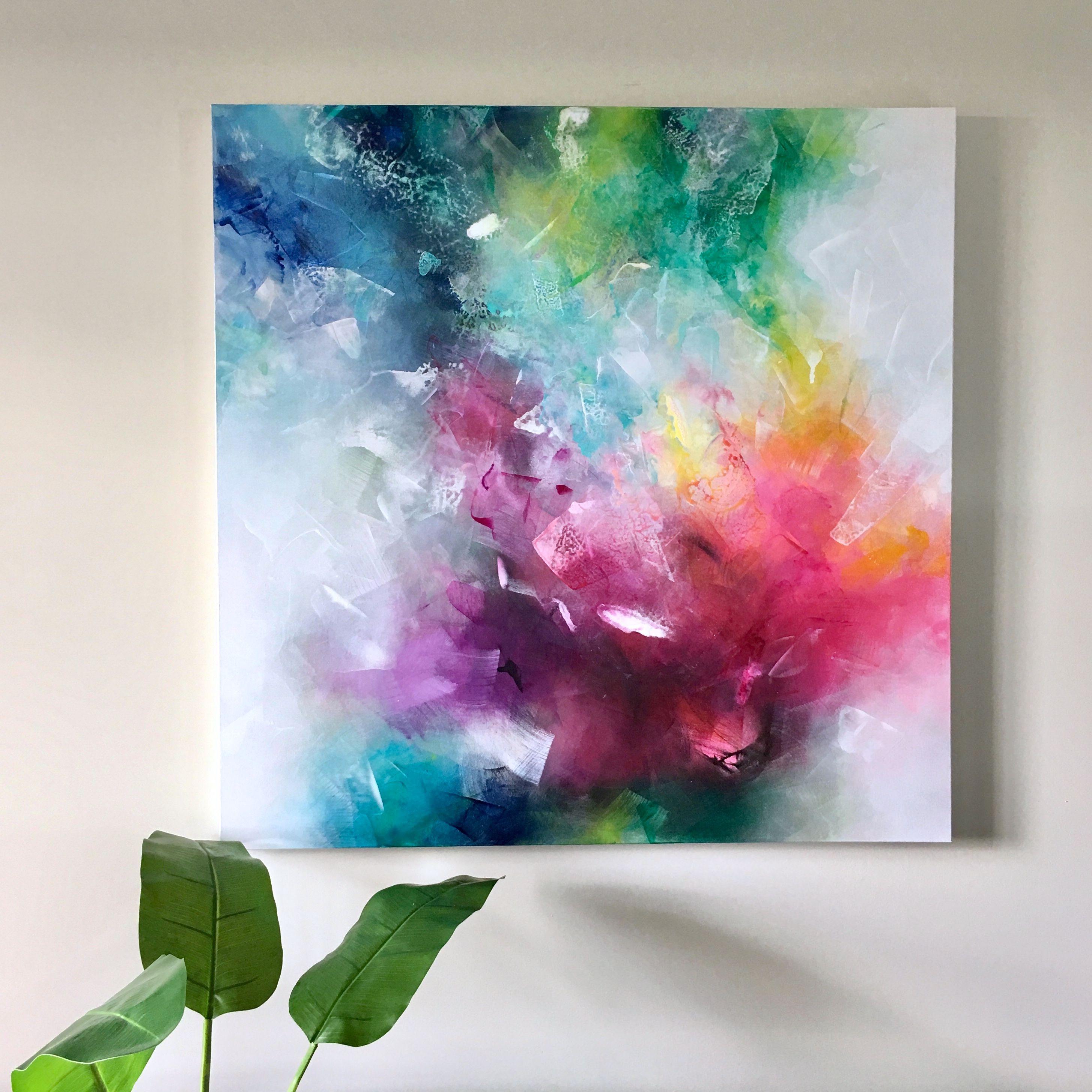 Feeling In Love 40x40 Acrylic On Gallery Canvas By Deniz Altug Abstract Art Paintings Acrylics Abstract Art Painting Techniques Abstract Art Painting Diy