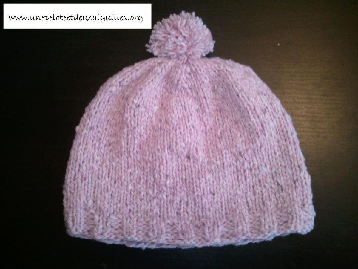 Tricoter un bonnet pour bébé (9 mois   1 an)   bébé   Pinterest ... e44ae993d6e