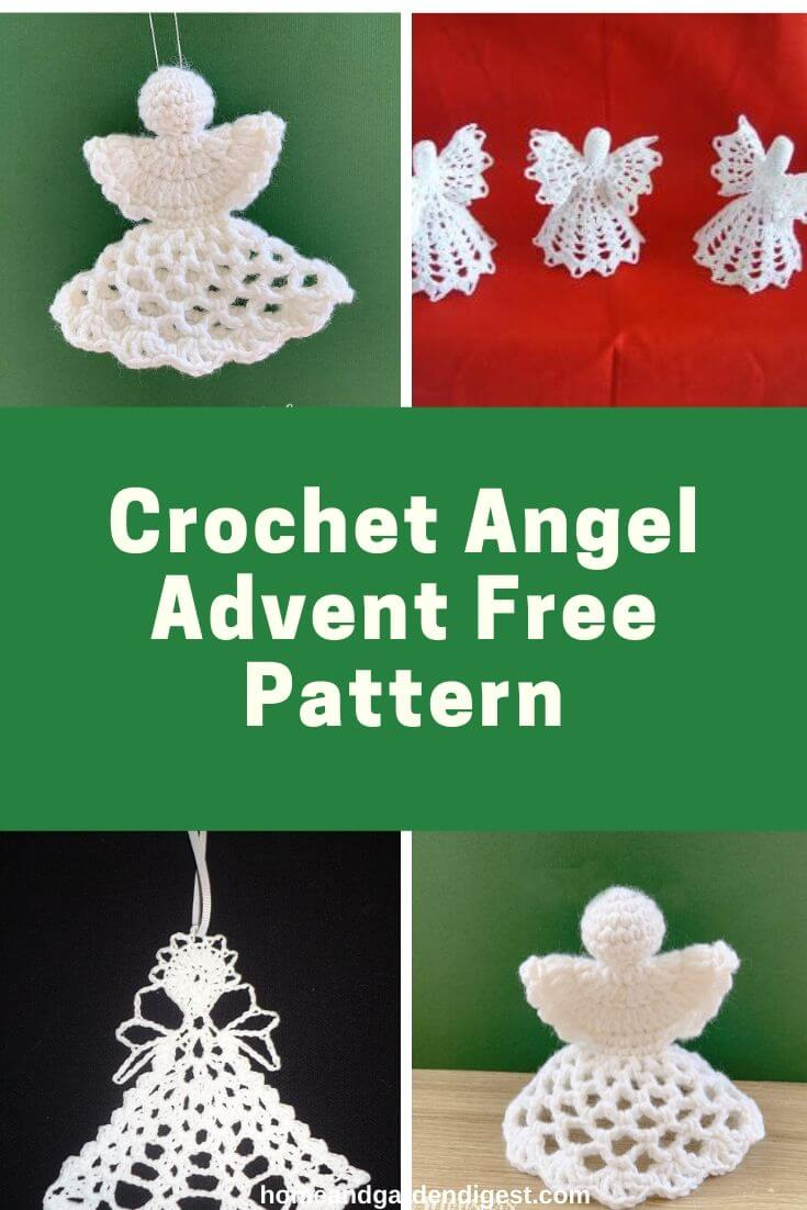 20 Creative Crochet Angel Free Patterns With Instructions Crochet Angel Crochet Ornaments Free Pattern Crochet Christmas Decorations