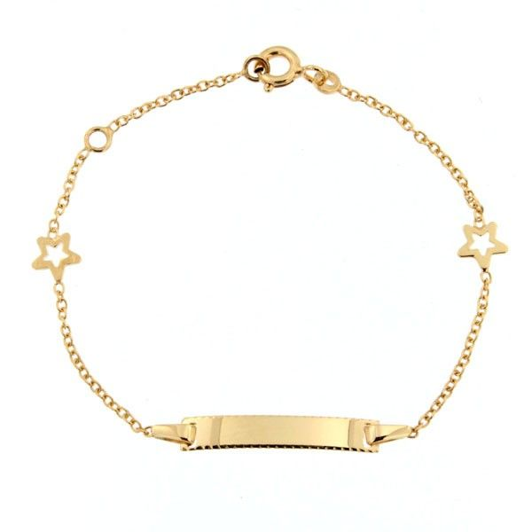 gourmette bapt me b b or 375 etoiles bracelet bapteme cadeau de naissance bijoux bebe. Black Bedroom Furniture Sets. Home Design Ideas