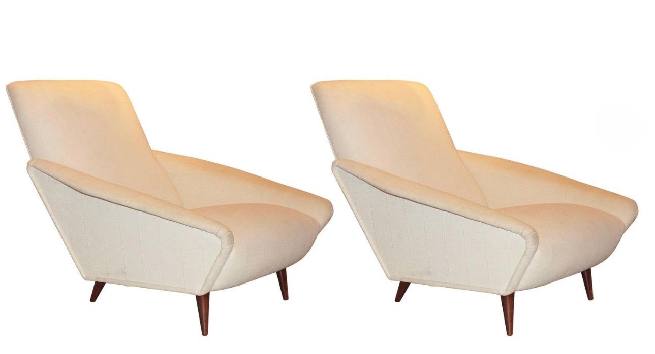 Gio Ponti Distex Lounge Chairs. Rare iconic pair   of armchairs. Comes with a certificate from the Gio Ponti Archives.