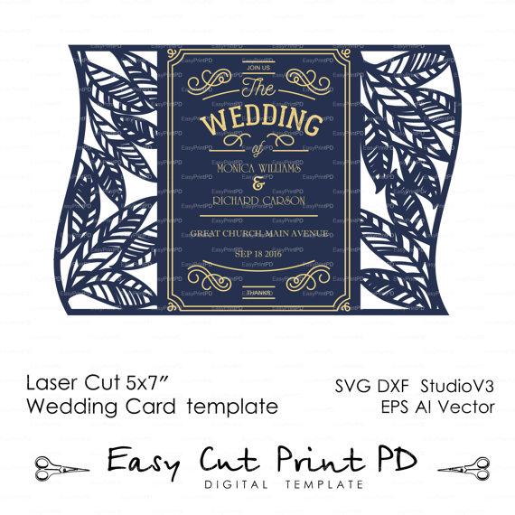 Bride Groom Leaves Leaf rustic botanic eco wedding card COVER