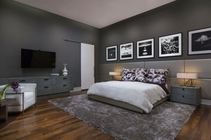 Anthrazit Wandfarbe Fotos Wandbilder Schlafzimmer Farben Bedroom Trends  2018, Bedroom Paint Colors, Istanbul,