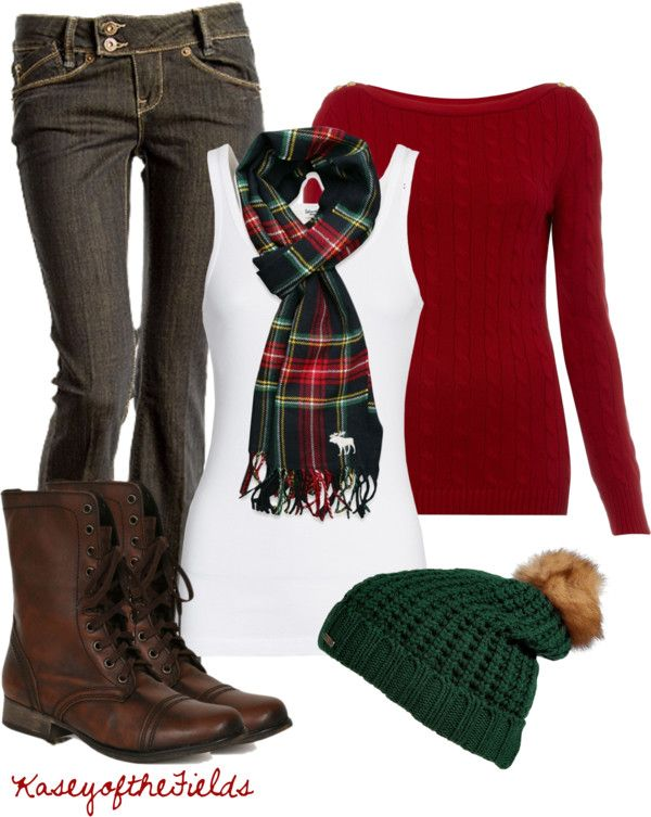"""""""Christmas Tree Hunting"""" by kaseyofthefields on Polyvore"""